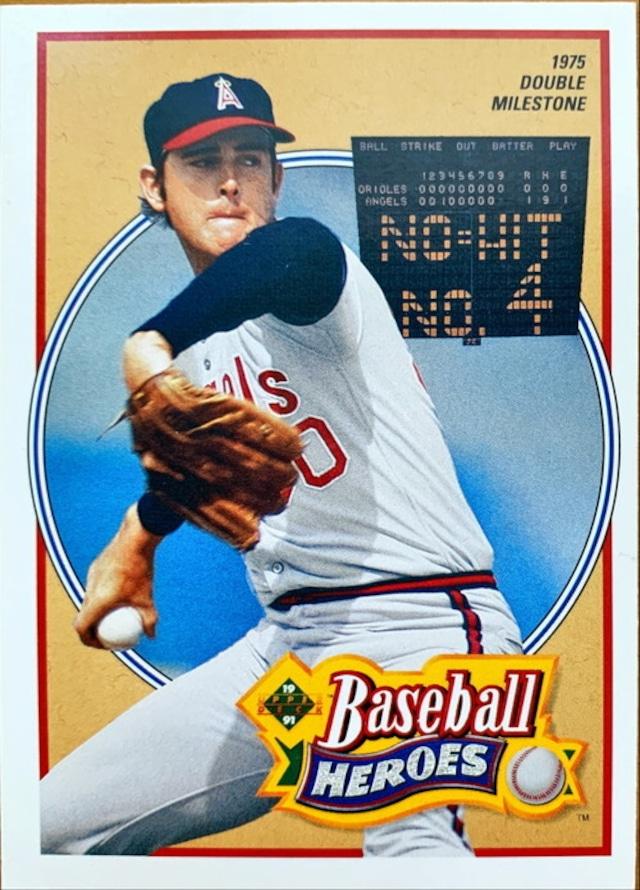 MLBカード 91UPPERDECK Baseball Hero Nolan Ryan #12of18