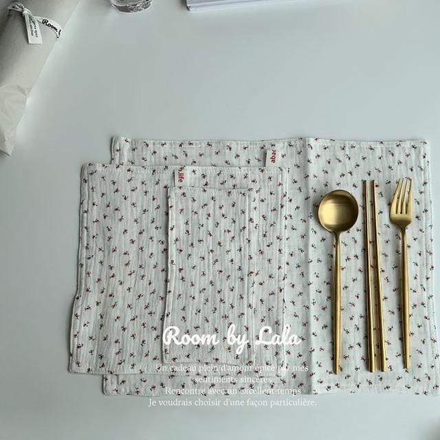 【即納】 Cross 3 piece set red flour / クロス /  韓国インテリア / kr-57