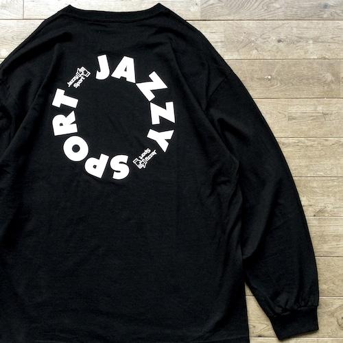"""【ラスト1】JS """"Circle"""" ロゴ ロングスリーブ Tシャツ/ブラック"""
