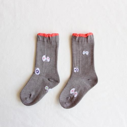 《mina perhonen》hana hane ソックス / gray / 13-21cm