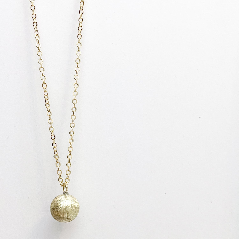 Satin ball necklace S NC-039