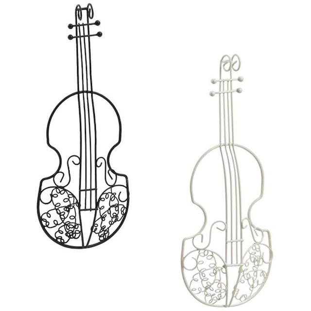 ワイヤーバイオリン 半立体型 ブラック/ホワイト