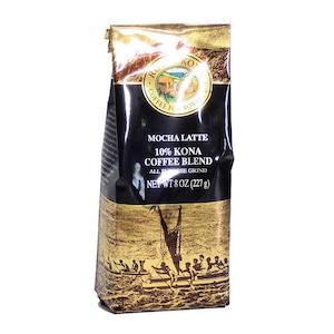 モカラテ(挽き済みの粉) ロイヤルコナ(8oz 227g) ハワイコナコーヒー フレーバーコーヒー