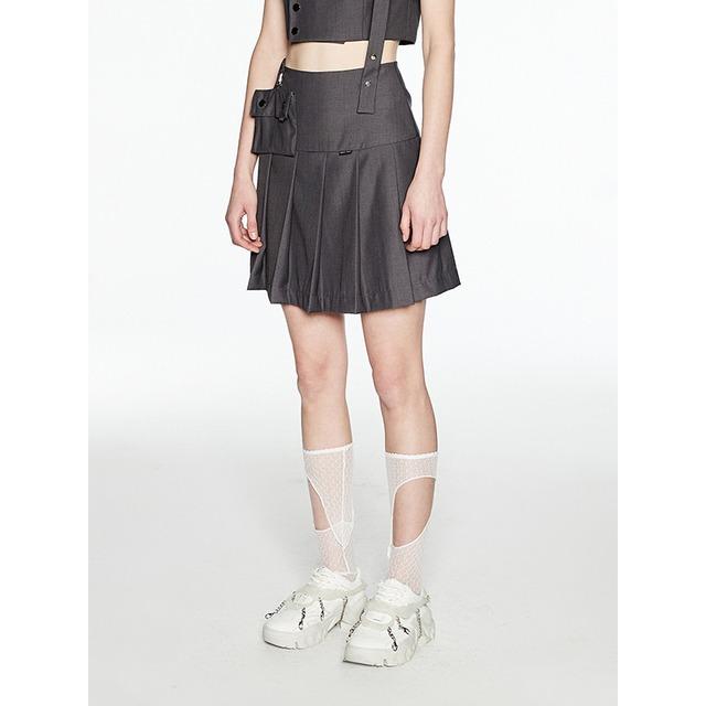 【1 JINN STUDIO】ハイウエストプリーツスカート