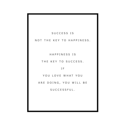 """""""SUCCESS IS..."""" INSPIRATIONシリーズ [SD-000582] A4サイズ フレームセット"""