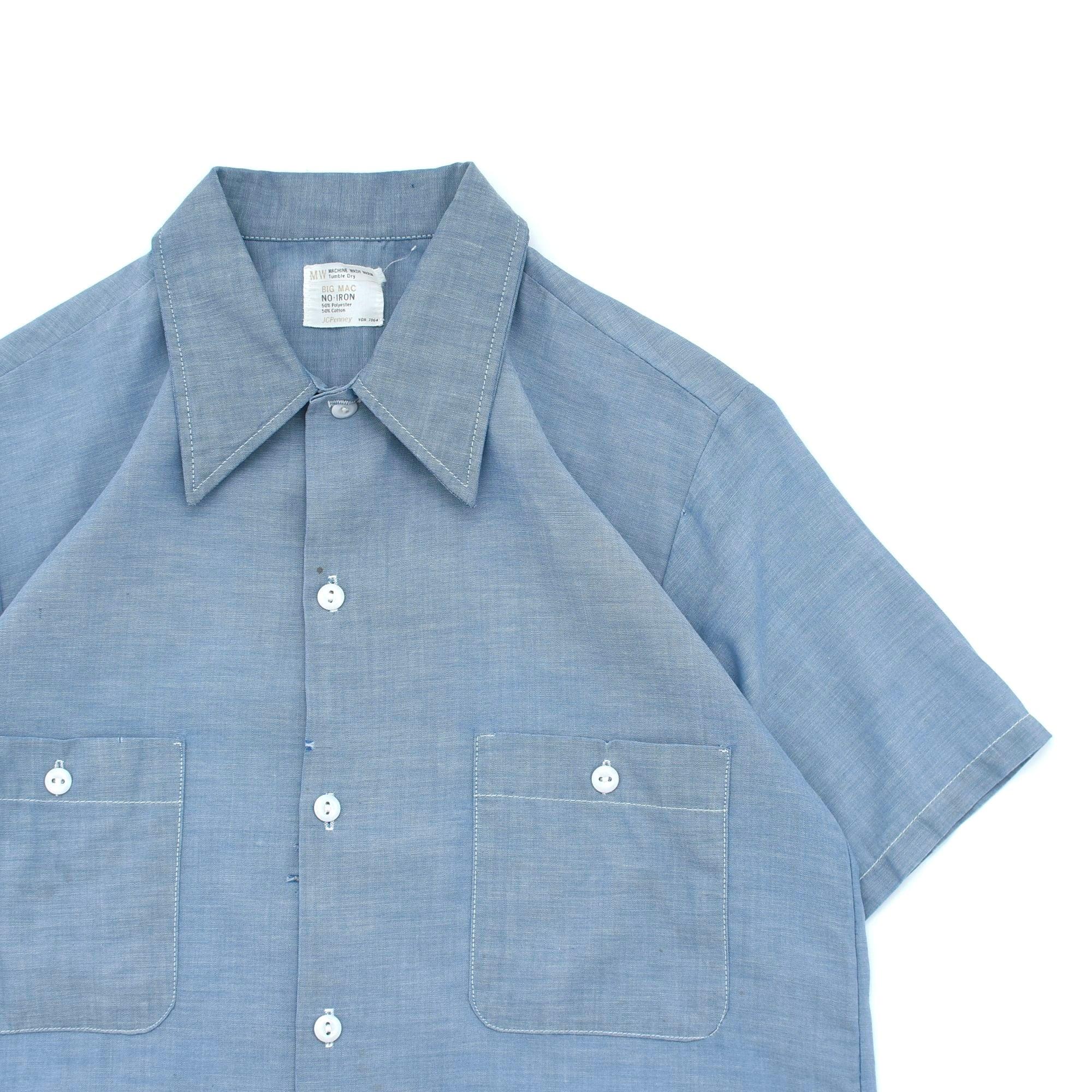 70's BIG MAC chambray work shirt