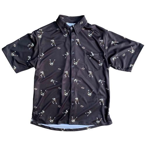 【YBC】Teivovo Aloha shirt Black