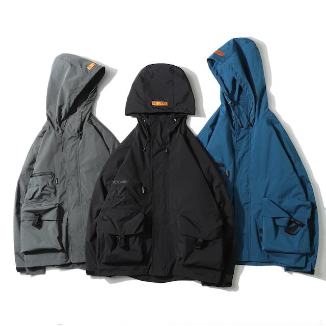【UNISEX】アウトドア マウンテン パーカー フード ジャケット【3colors】UN-611