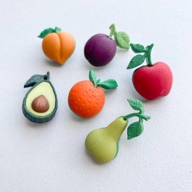 JJボタン 野菜と果物のボタンパック