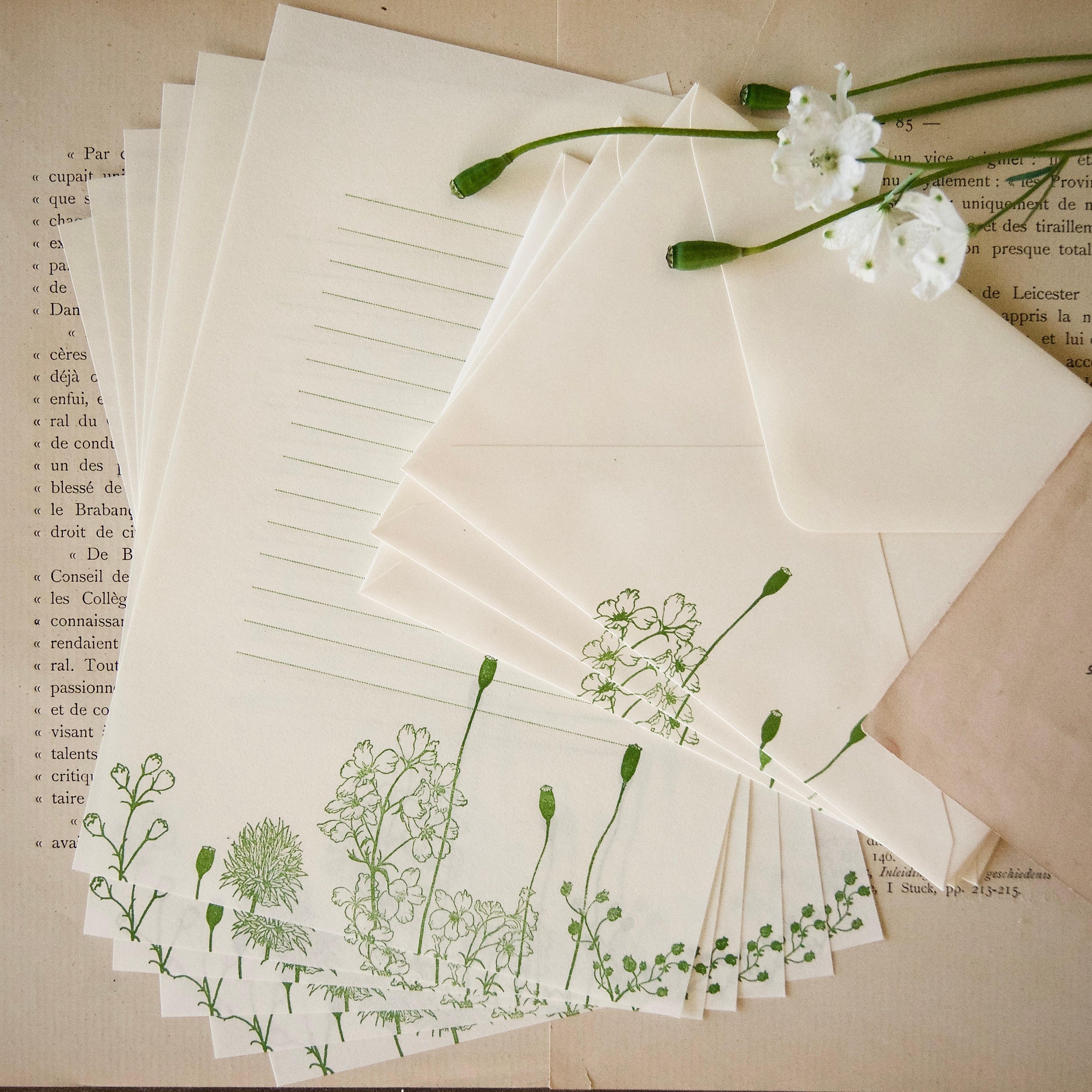 【レターセット】 ポピーの実 / 便せん6枚+封筒3枚/活版印刷