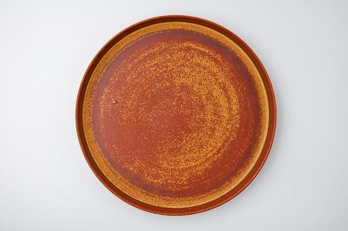 ◆受注生産◆  鉄赤釉23㎝切立皿 オーダーメイド対応品