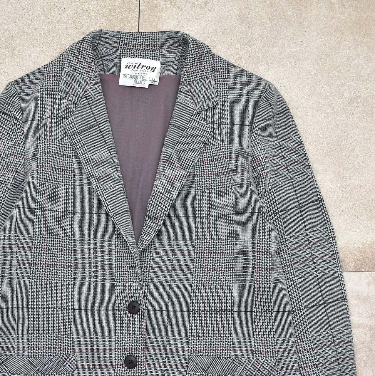 60~70s Vtg glen check tailored jacket
