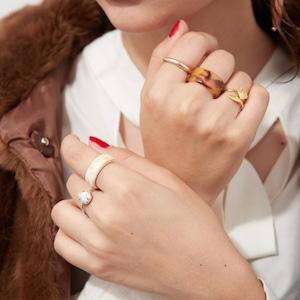 SET ITEMS || 【予約商品】 NOZOMI'S BROWN FOX SET  (RING SET + EARRINGS) by NOZOMI HANAYAGI || 6 ITEMS || MIX || CSEB0904P