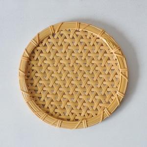 一木律子 丸皿(中)麻の葉編み