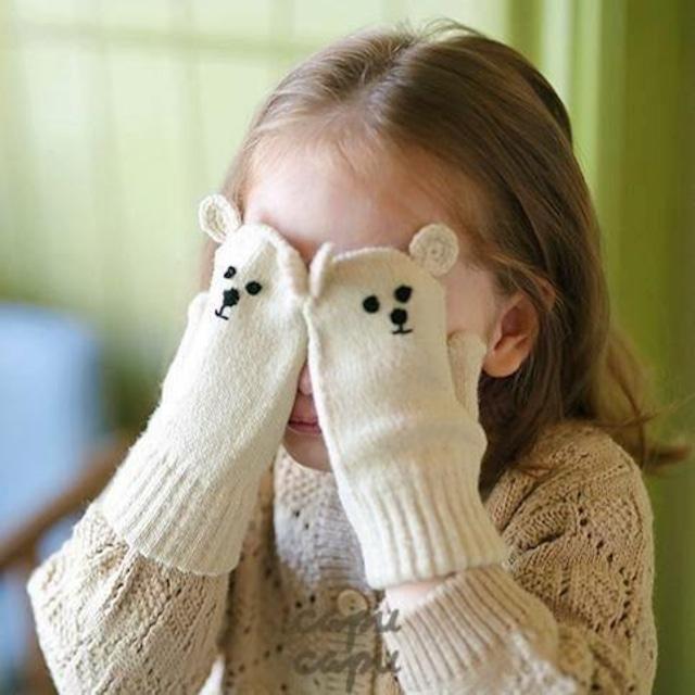 «即納/予約»«Mardi Amber» Bear Mittens くまの手袋