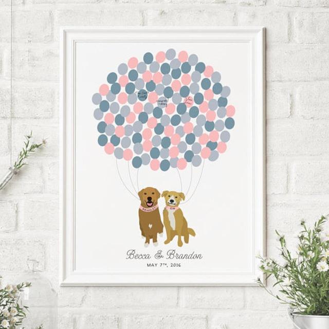 ついに再販!【ペット】愛犬愛猫のイラスト入りオーダーメイドウェディングツリー(バルーン)♡