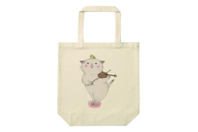 バイオリン猫のトートバッグ