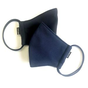 【仕事にも使えるお得なCOOLMAX マスク2点セット 日本製】NAVY & BLACK MASK SET