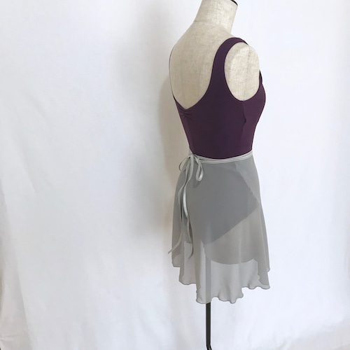 "❖""Fiorina"" Ballet Wrap Skirt -  Misty Silver [Sheer](  ミスティ・シルバー [シアー])"
