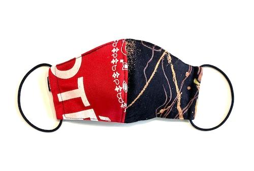 【デザイナーズマスク 吸水速乾COOLMAX使用 日本製】RED PRINT × BAND MASK CTMR 0911078