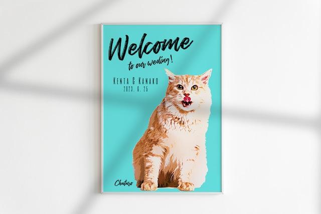 ペットのお写真で作る ポップアート風 ウェルカムボード│犬 ネコ