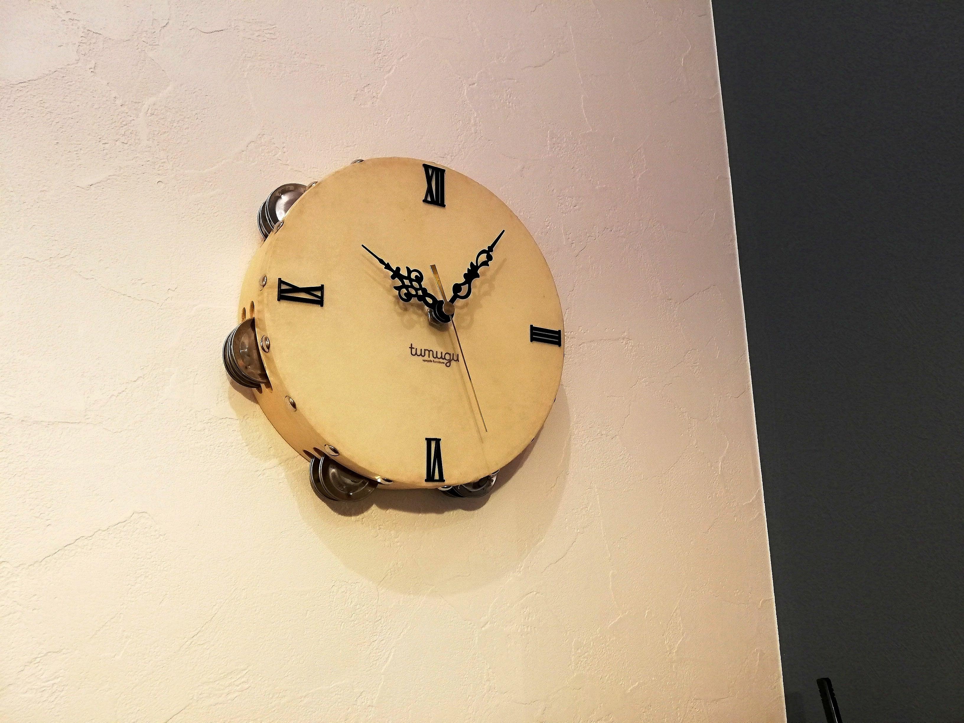 Wall clock 「Tambourine(唐草)」