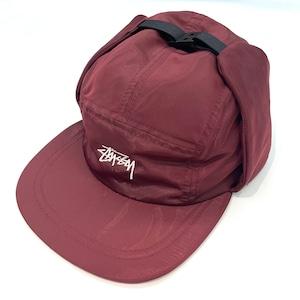 STUSSY EAR FLAP CAM CAP RED