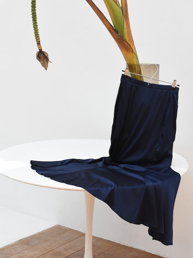 satin mermaid skirt(navy)