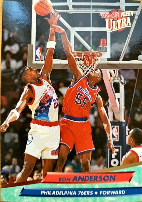 NBAカード 92-93FLEER Ron Andersont #135 76ERS
