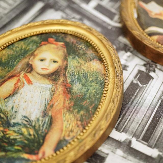 "【FRENCH ANTIQUE】アートデコレーションフレーム""Little girl1"""