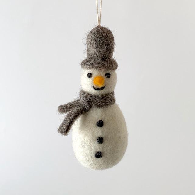 Snowman w/ Scarf - Grey|グレイのマフラーの雪だるま オーナメント