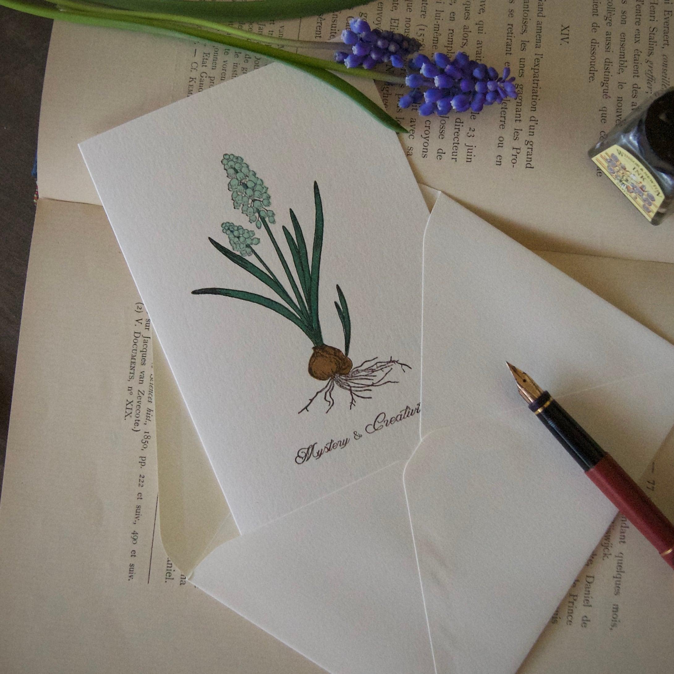 【カード 大】 ムスカリ / カード1枚+封筒1枚/活版印刷