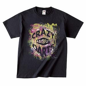 【雑誌掲載】ペイントロゴTシャツ(CRAZY ABOUT DARTS 黒)