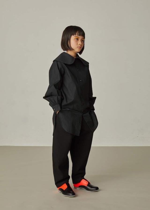 【21AW】GRIS ( グリ )Puritan Collar Shirt[S / M]Black シャツ