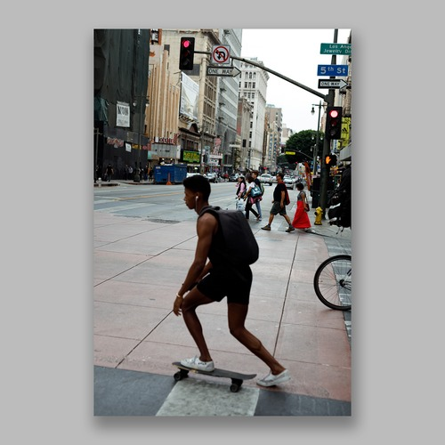 Postcard「Everyday Affair Los Angeles」13cm×18cm Original Print