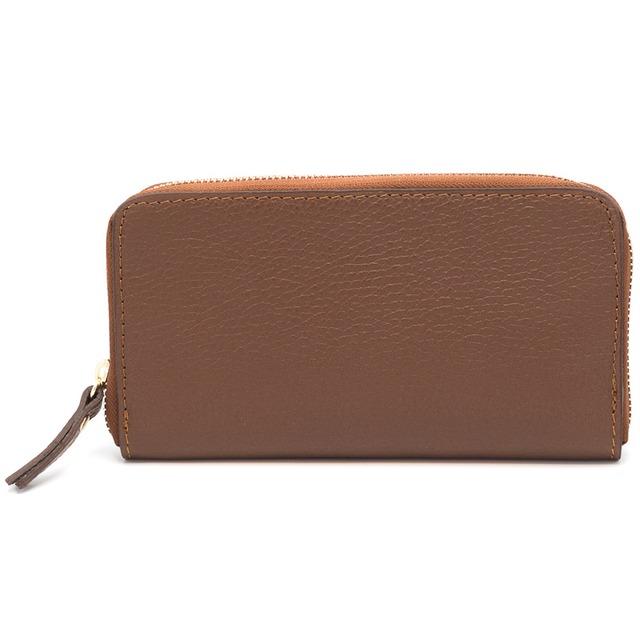 イタリア製 本革 長財布 財布 ブラウン