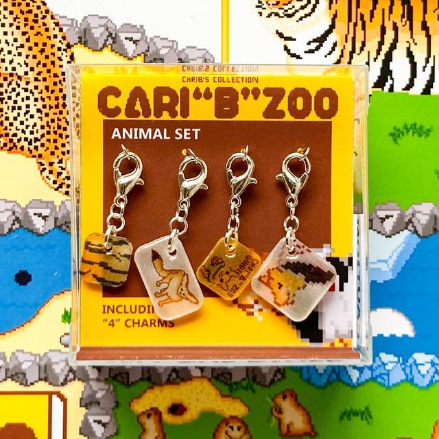 """プラバン 動物園 ドット絵 CARI""""B""""ZOO チャーム 4点セット"""