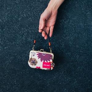 6デザイン【秀和 x pink india】北欧デザイン 持ち手付手提げがまぐち財布