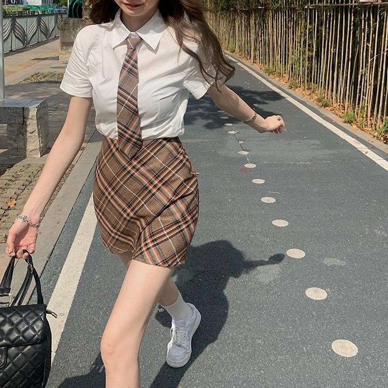シャツ&スカートセットアップ V00752