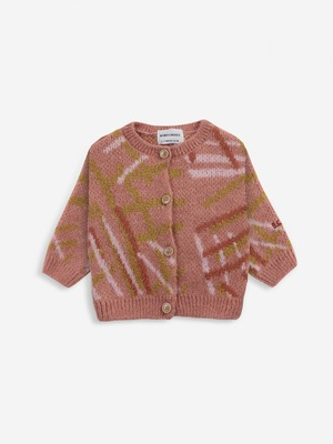 【21AW】bobochoses(ボボショセス)Scratch Knitted cardigan カーディガン