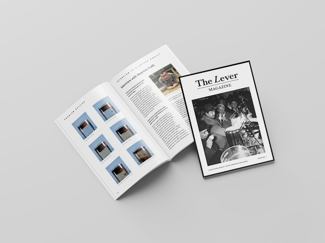The Lever Magazine 創刊号 英語版 レバーエスプレッソマシン専門誌 クリックポスト【送料無料】