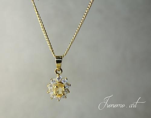 【11月誕生石】エレガント ネックレス~シトリントパーズ~