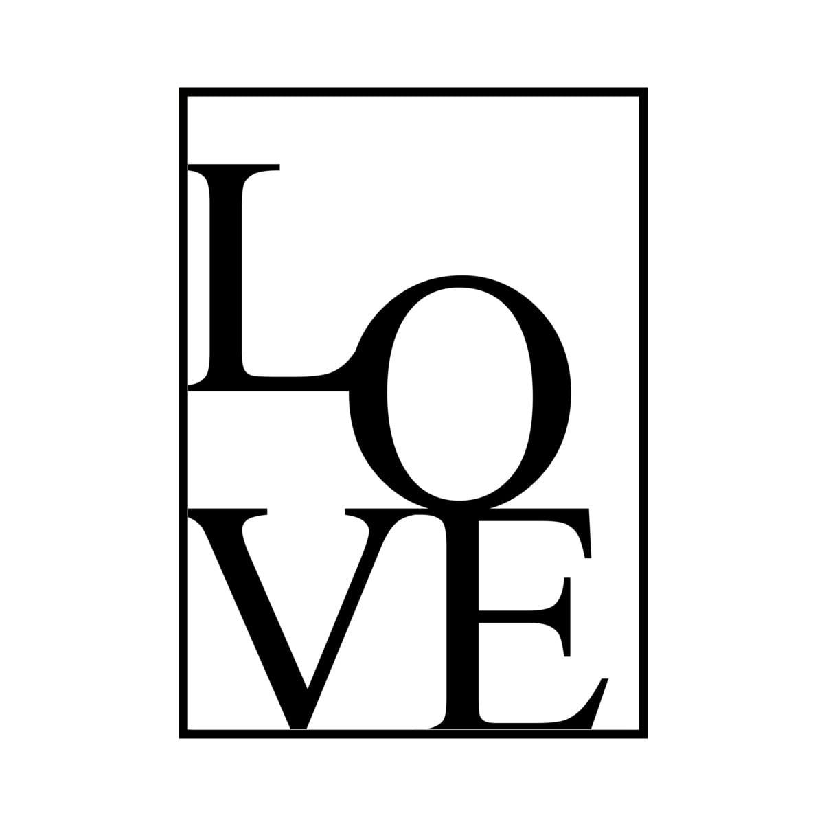 """""""LOVE"""" White - POSTER [SD-000587] A4サイズ ポスター単品"""