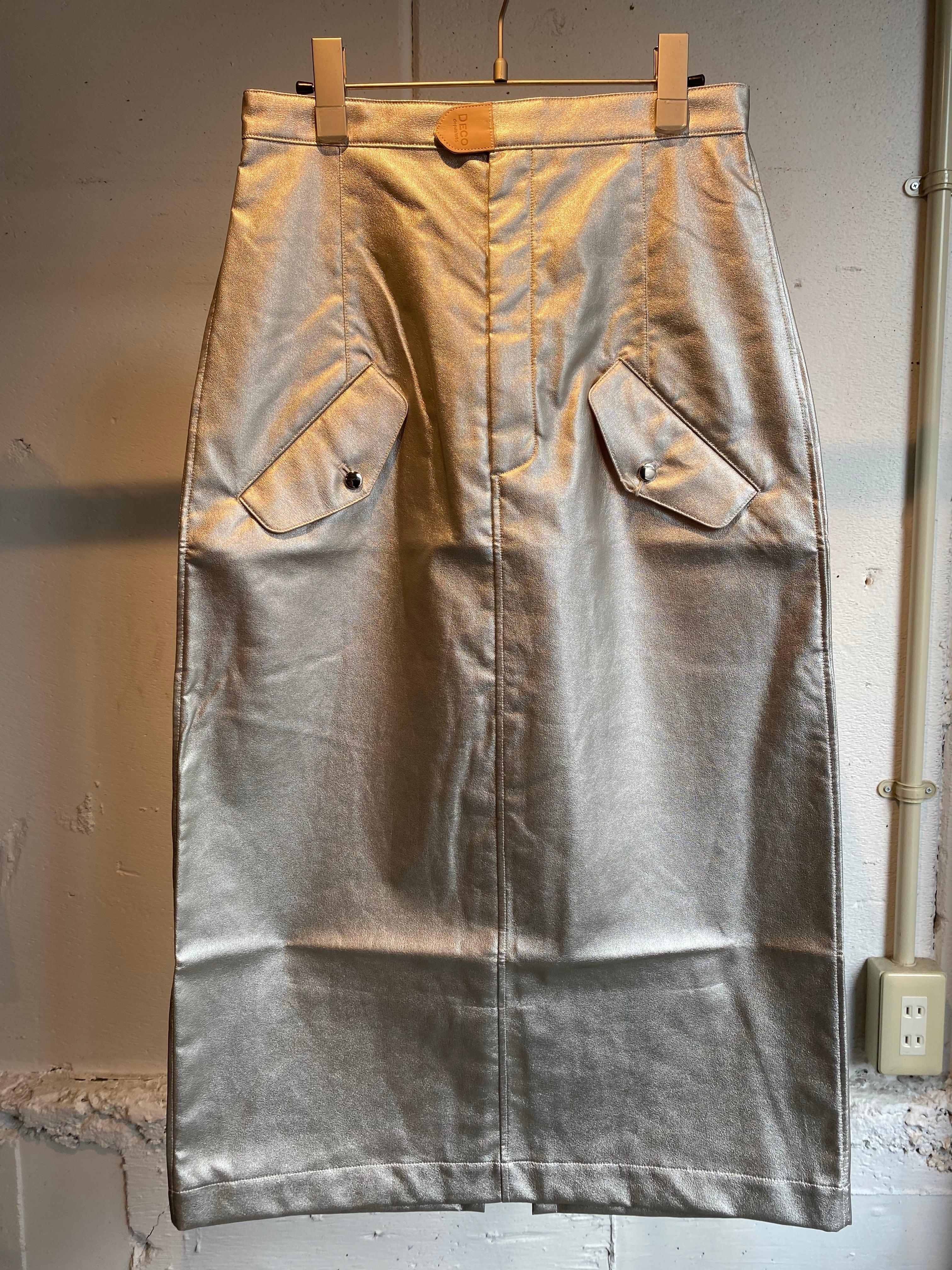DECOdepuis1985  fake leather skirt
