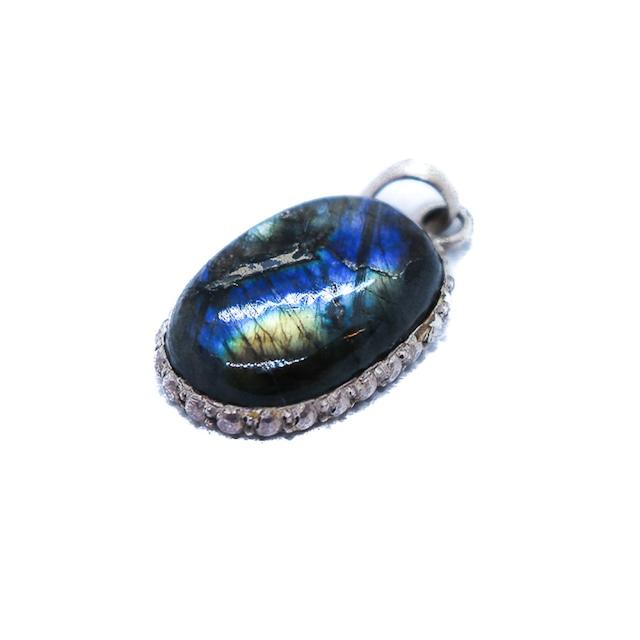 ペンダントトップ 天然石 Labradorite シルバー925   No.31
