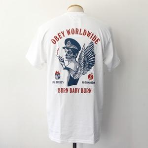 【OBEY】 BURN BABY BURN (WHITE)
