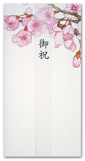 シイング ぽち袋(長) お祝の桜