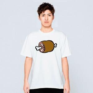 マンガ肉 通販 イラスト Tシャツ 食べ物 大食い おもしろ パロディ ネタ 白 プレゼント 大きいサイズ 綿100% 160 S M L XL