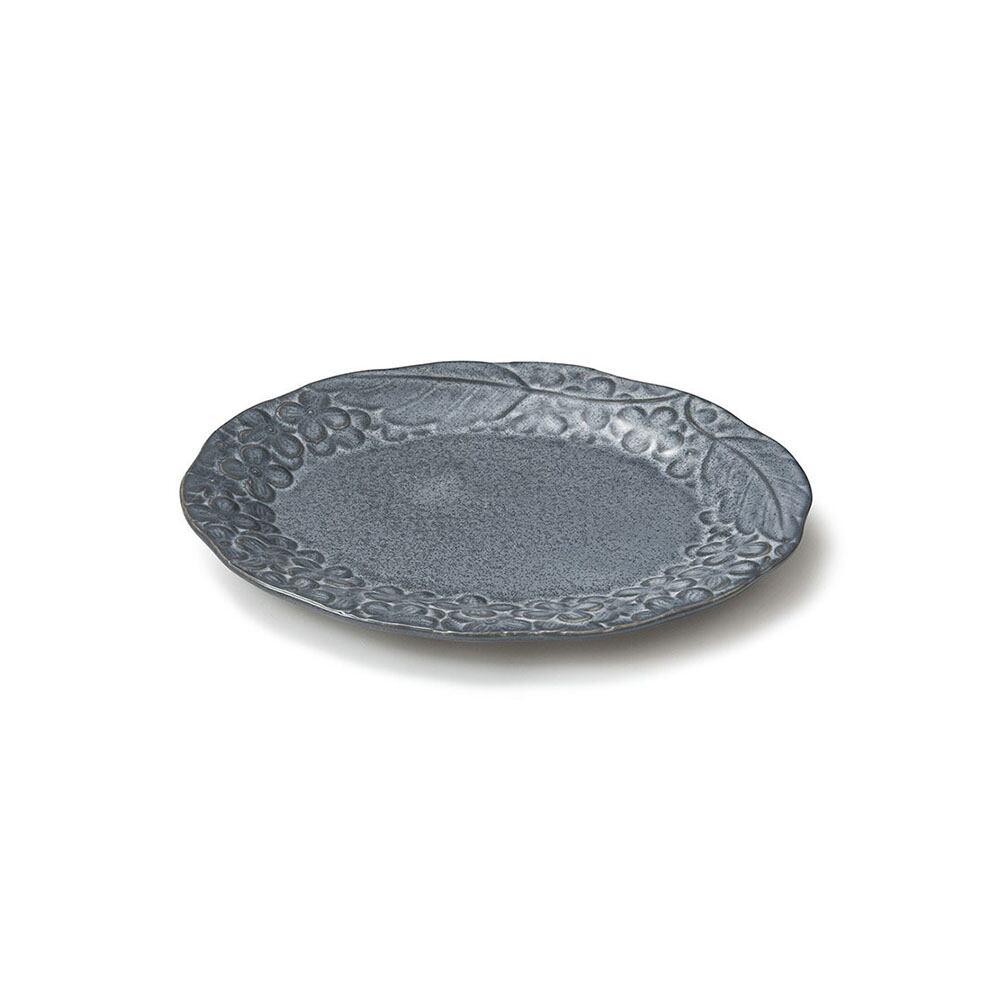 aito製作所 「リアン Lien」プレート 皿 約18×14cm S グレー 美濃焼 267837