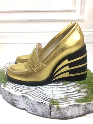 ANREALAGE MOTION COIN LOAFER GOLD